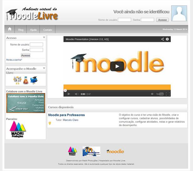 moodle customização moodle livre