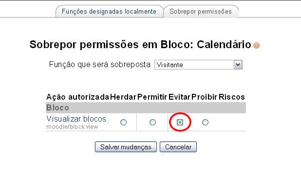 Controlar visualização de blocos de acordo com status no Moodle