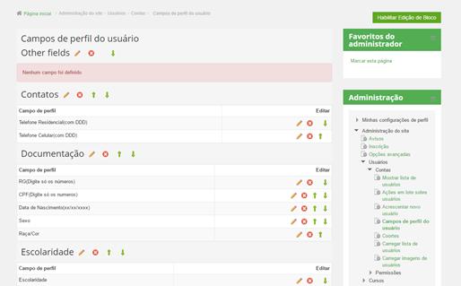 Como criar campos extras no perfil do usuário?